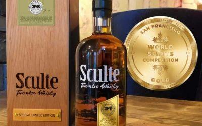 "Goud in San Francisco voor de Special Limited ""2MB Recipe One"" Sculte Twentse Whisky"